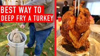 image of turkey and deep frier